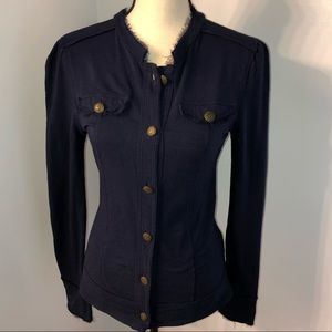 Linq navy blue button down jacket Size Small